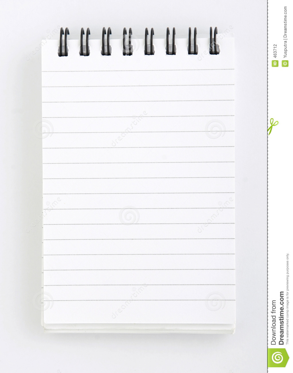 Blank Notepad Stock Photography Image 463712