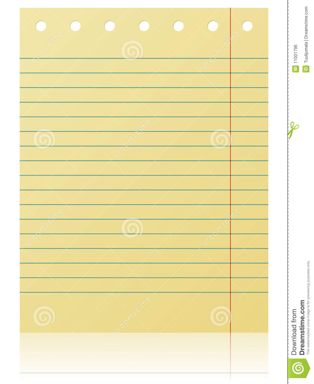 Blank Notepad Page Royalty Free Stock Image Image 11001796