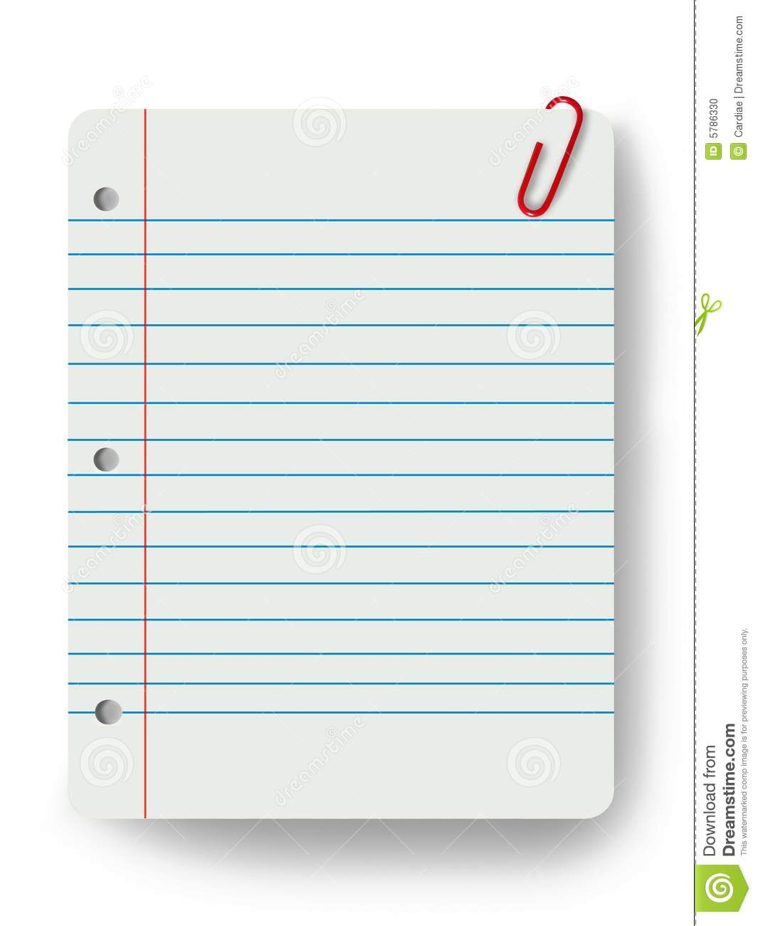 blank notepad and a paper clip stock photo image of memo