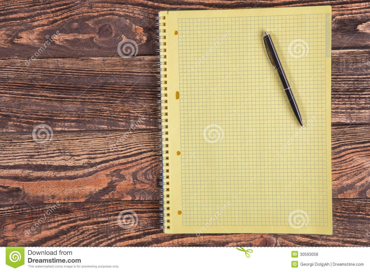 Blank Notepad On A Wooden Table Stock Photo - Image: 30593058