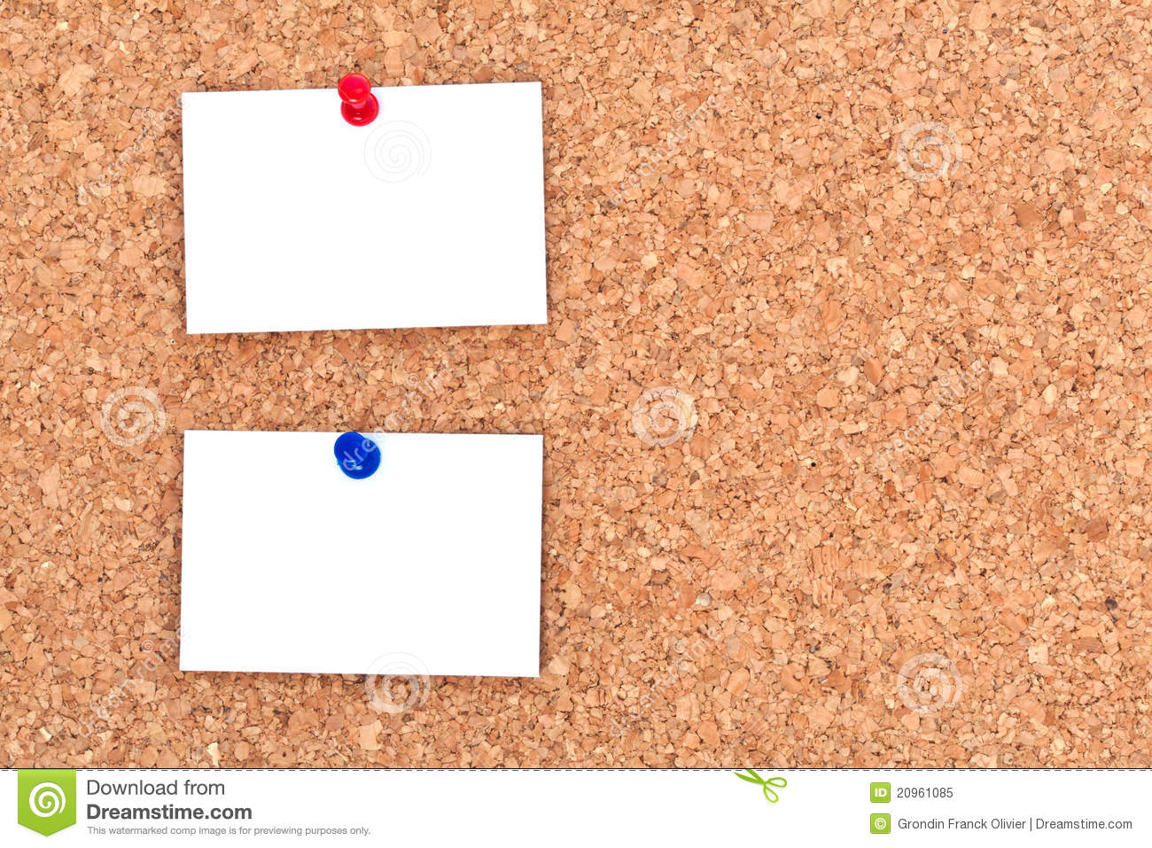 Blank Notes On Bulletin Board Royalty Free Stock Photo - Image ...
