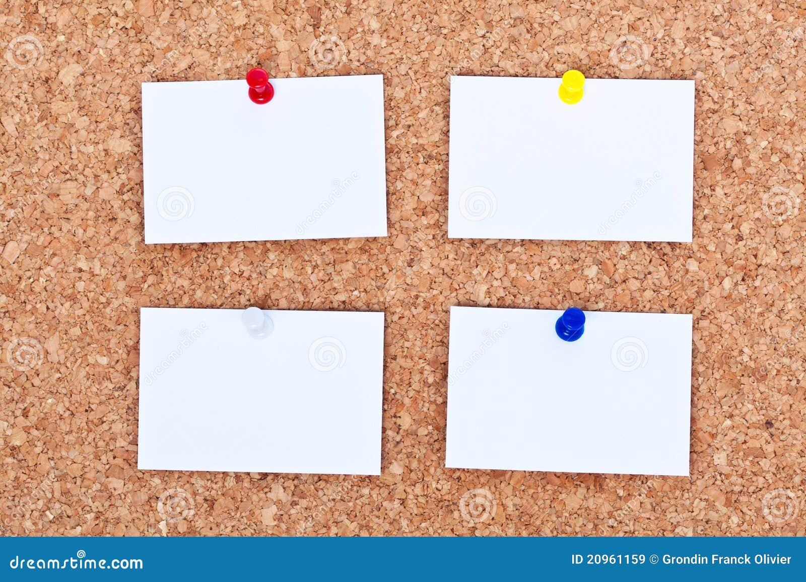 blank notes on bulletin board bulletin board