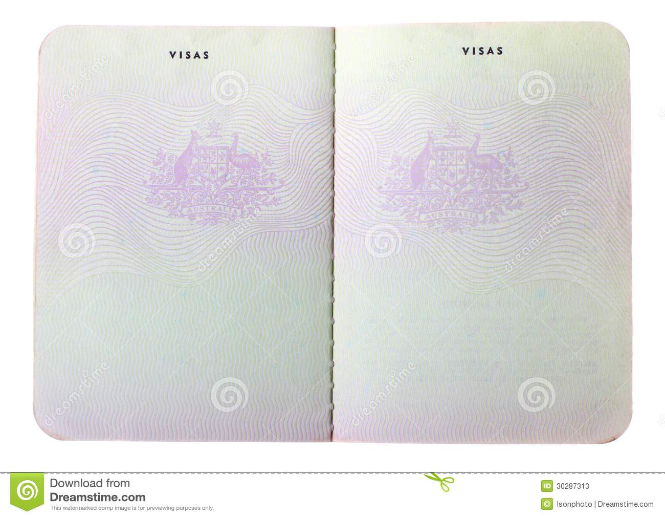 blank old australian passport pages stock image image of