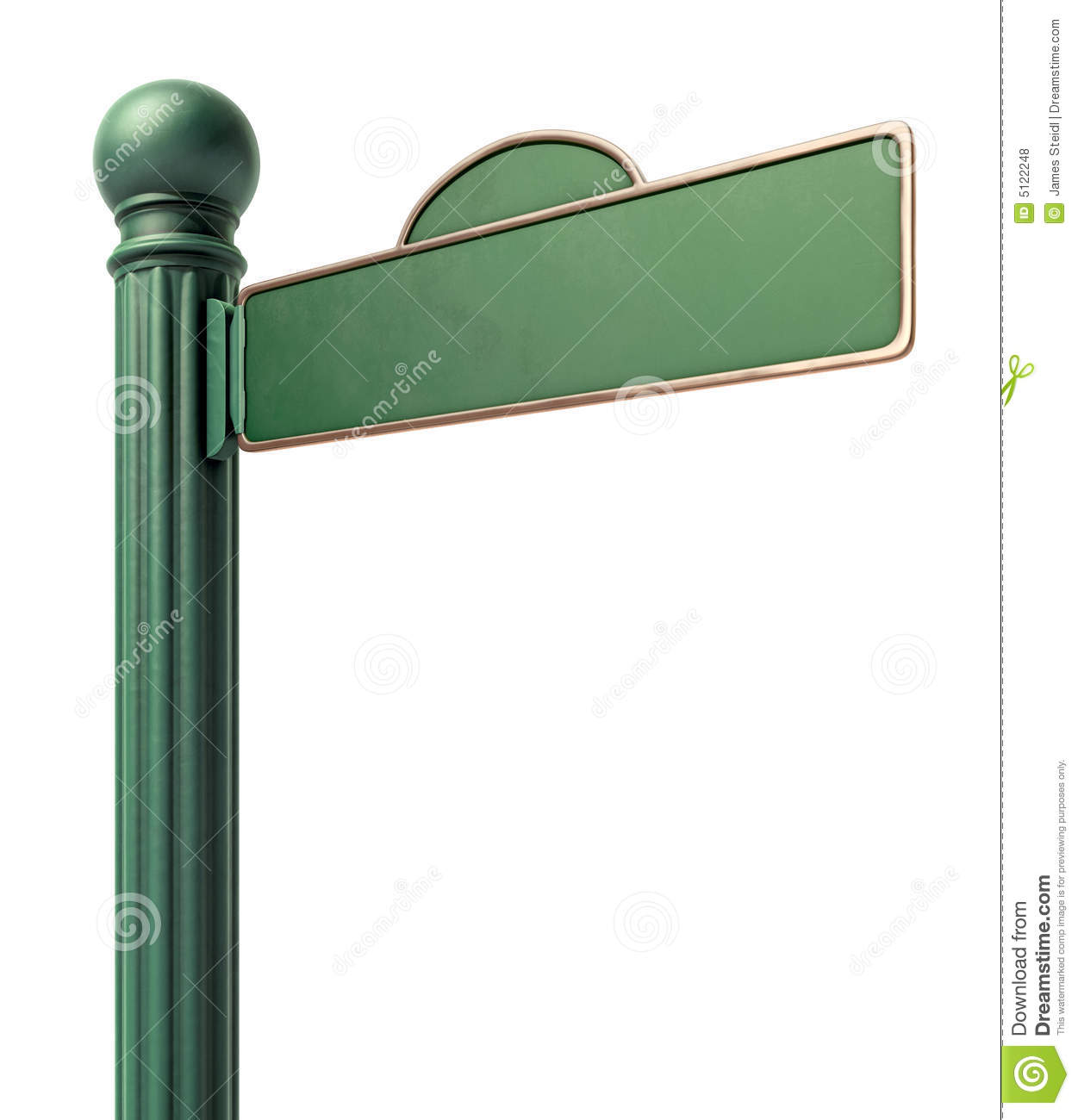 Blank Old Fashoned Street Sign Stock Illustration Illustration Of - Street sign template