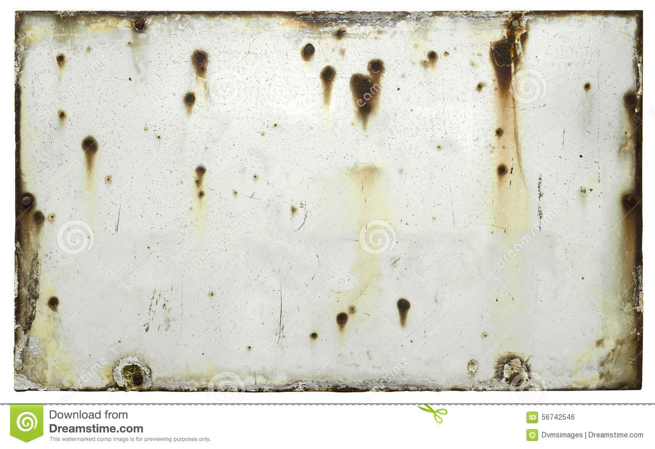 Blank Old Weathered Sign Stock Photo Image Of Metal