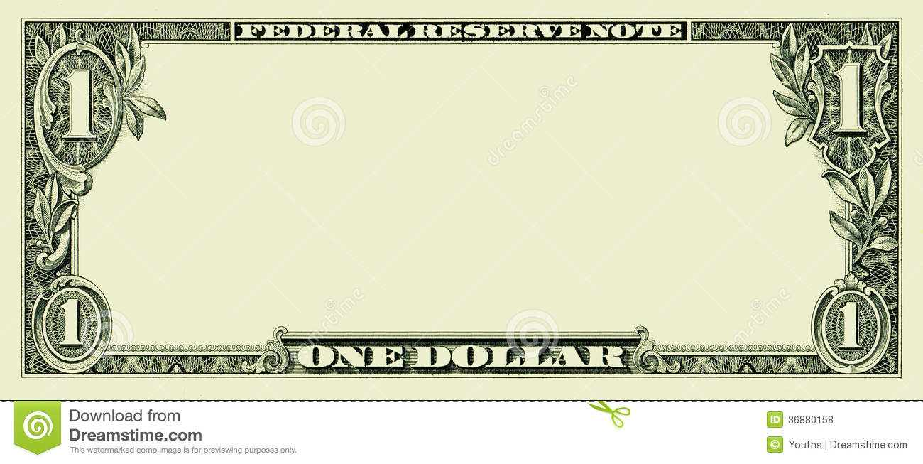 design a dollar bill template