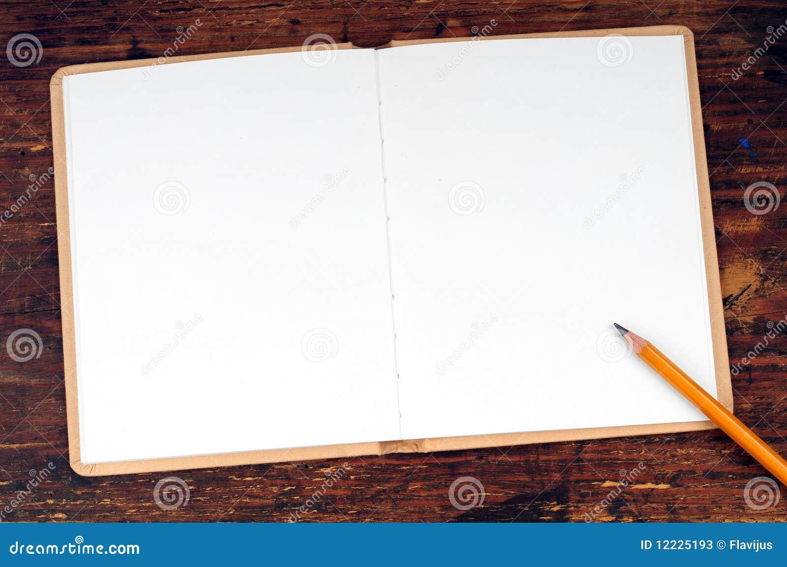 Blank Open Book Stock Photos - Image: 12225193