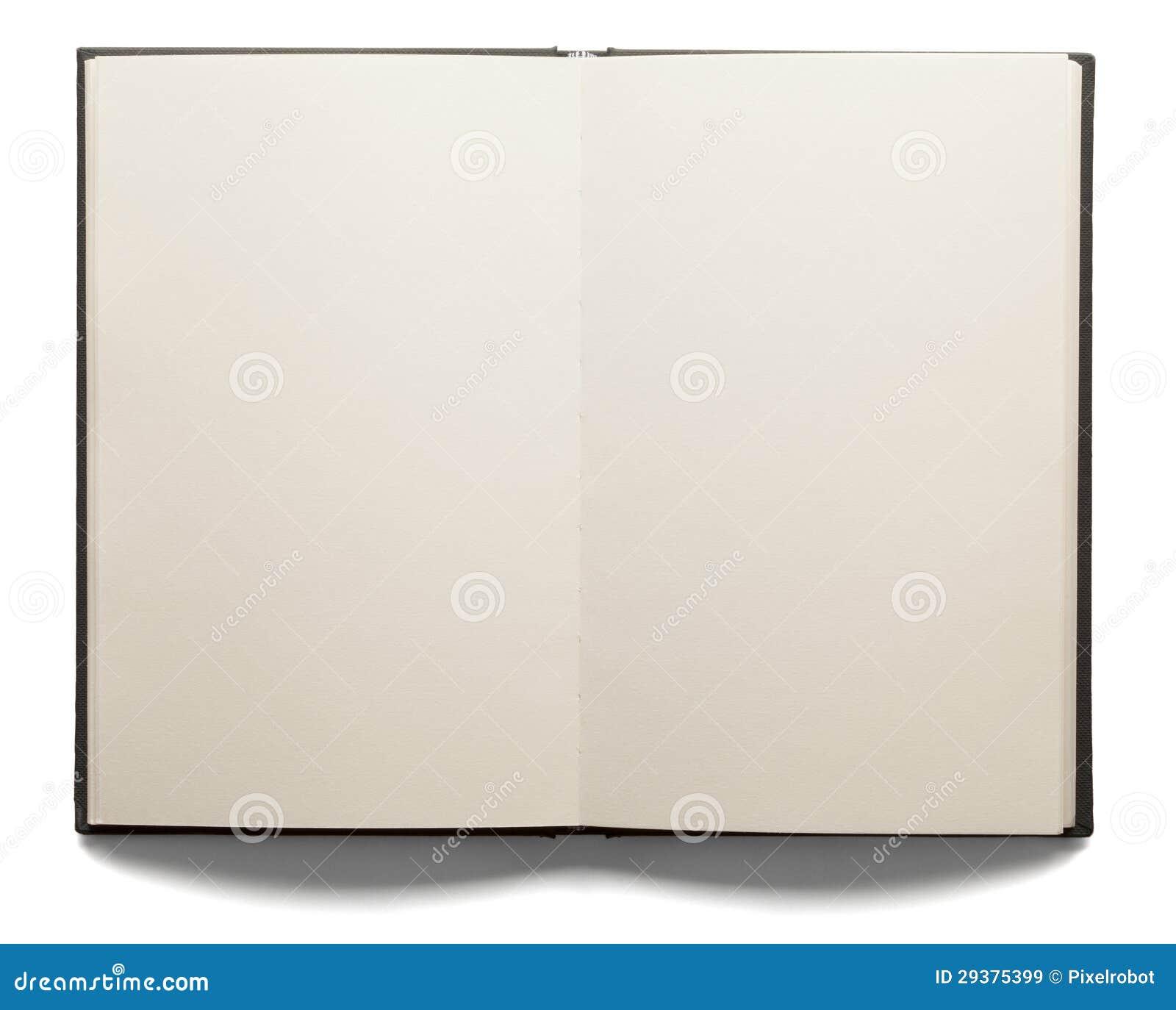 blank open book stock image image of horizontal blank 29375399