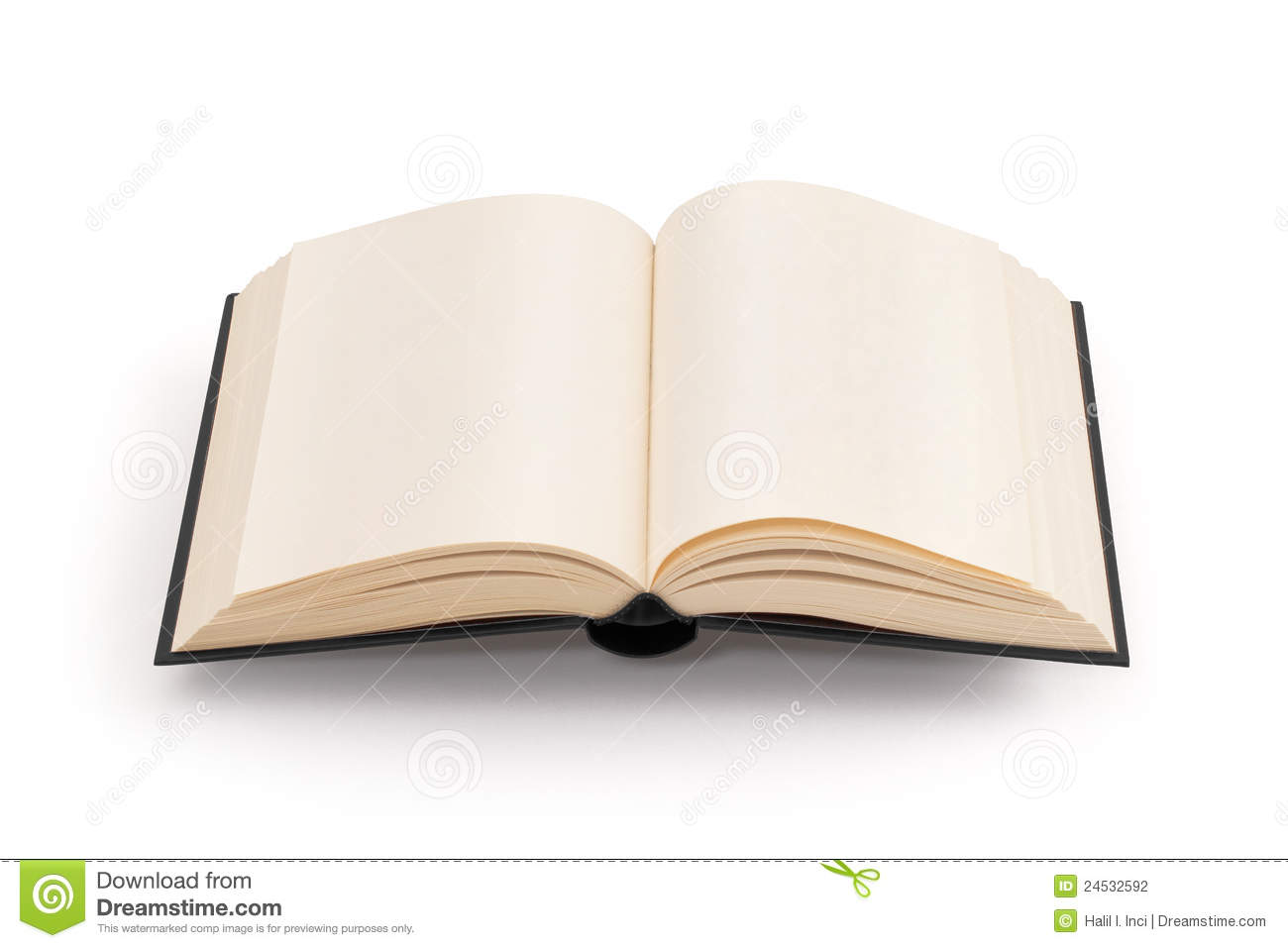 Blank Open Book Clipping Path Stock Photography Image