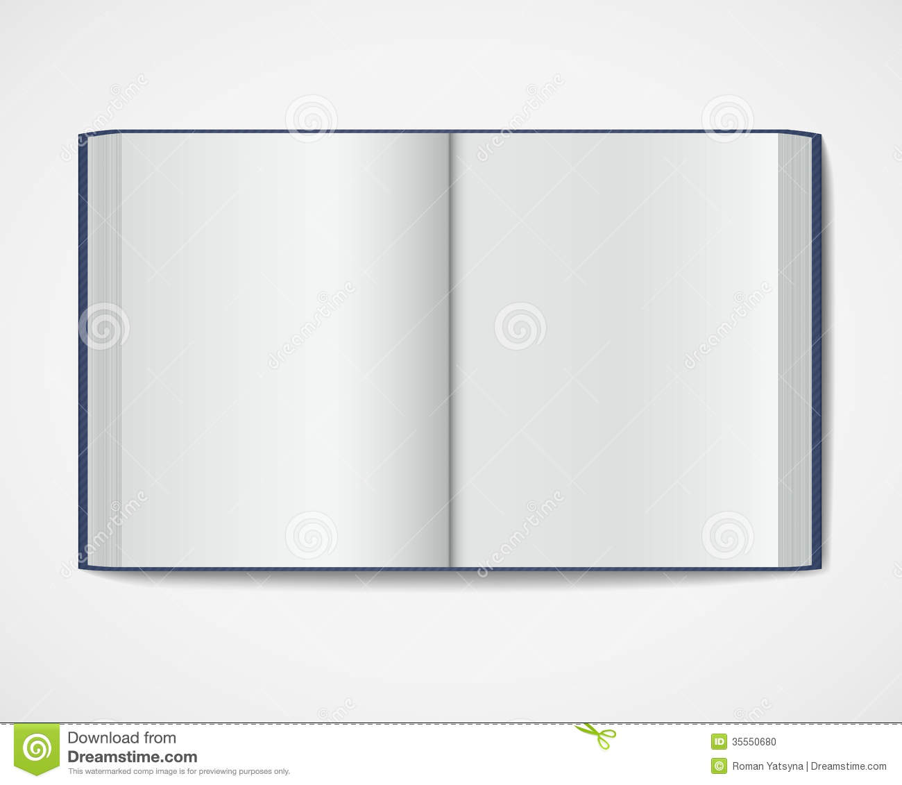 Hardcover Book Graphics : Blank open book magazine hardcover stock photo image
