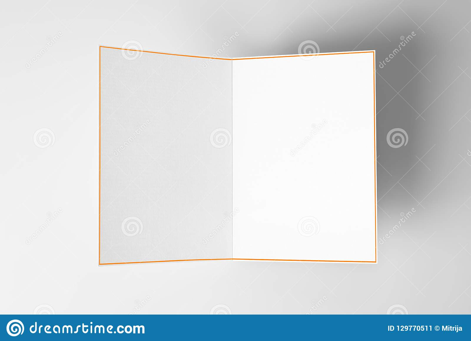 Blank Open Card With Yellow Frame Stock Image Image Of Birthday
