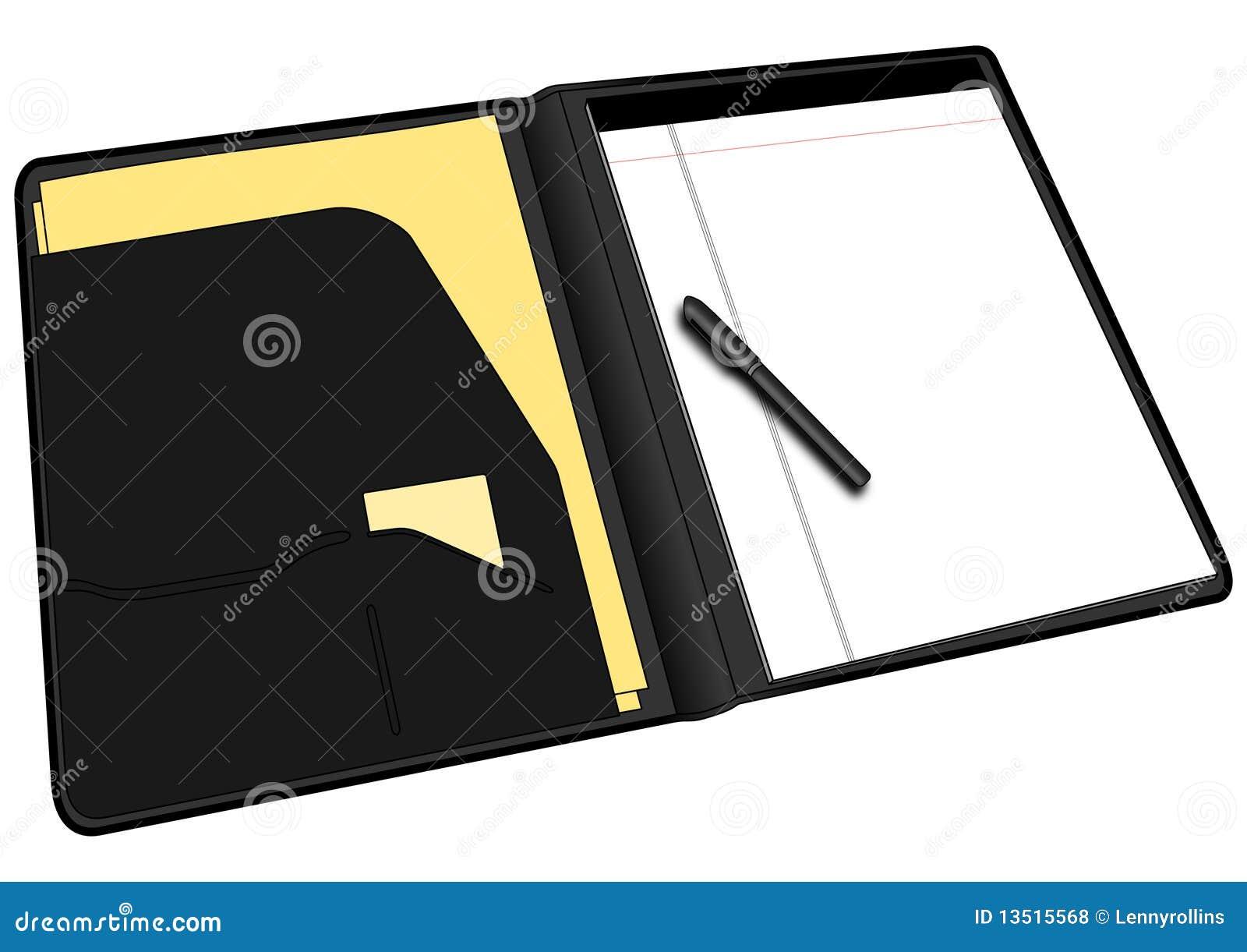 blank business folder notebook portfolio