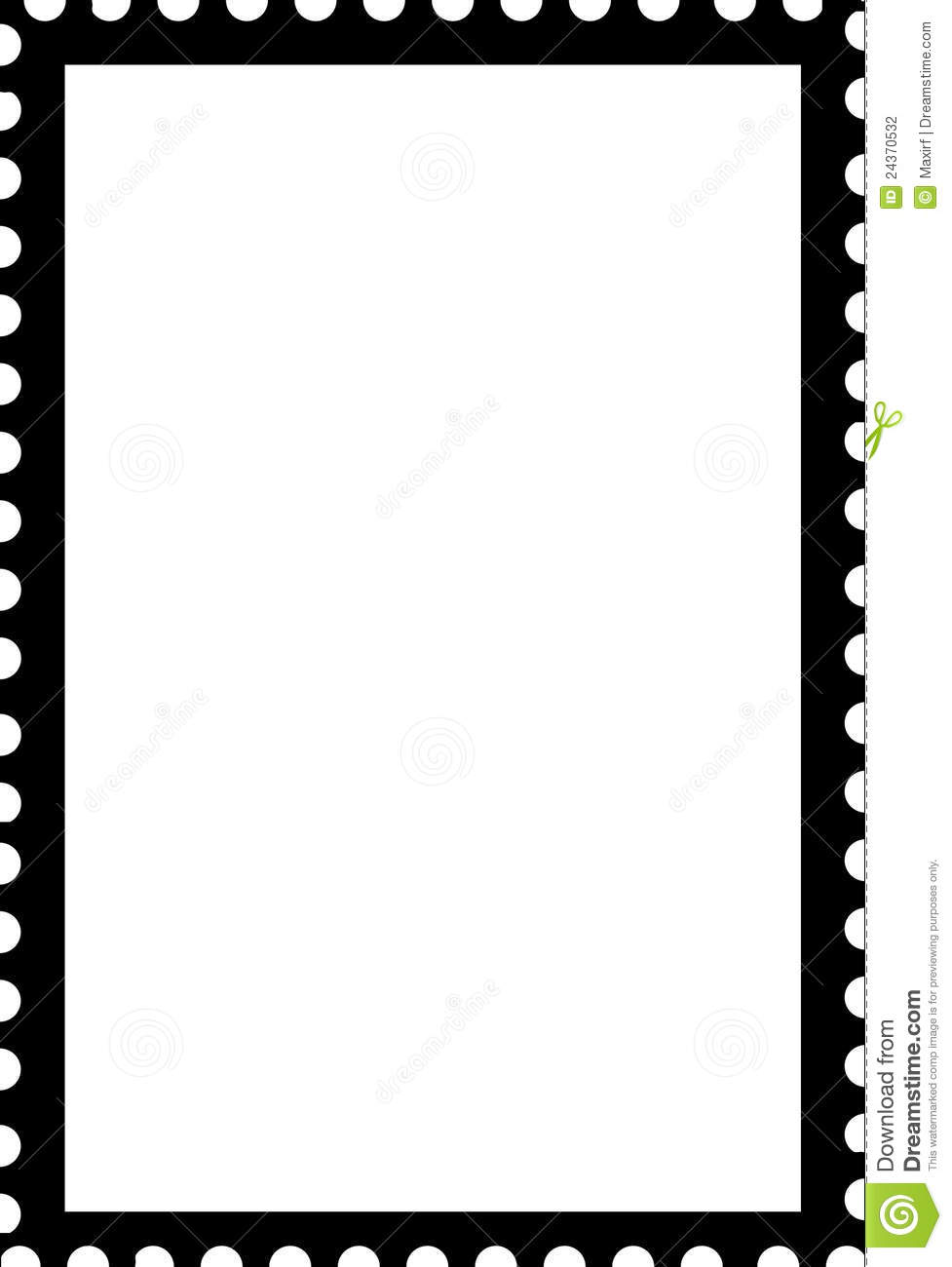 Royalty Free Stock Photo. Download Blank Open Stamp Portrait Template ...