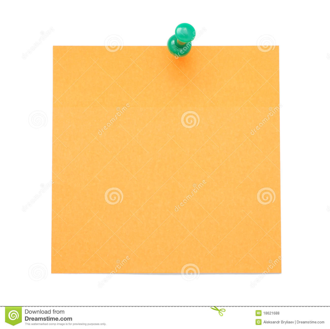 Blank Orange Post-it Note Royalty Free Stock Photos ...