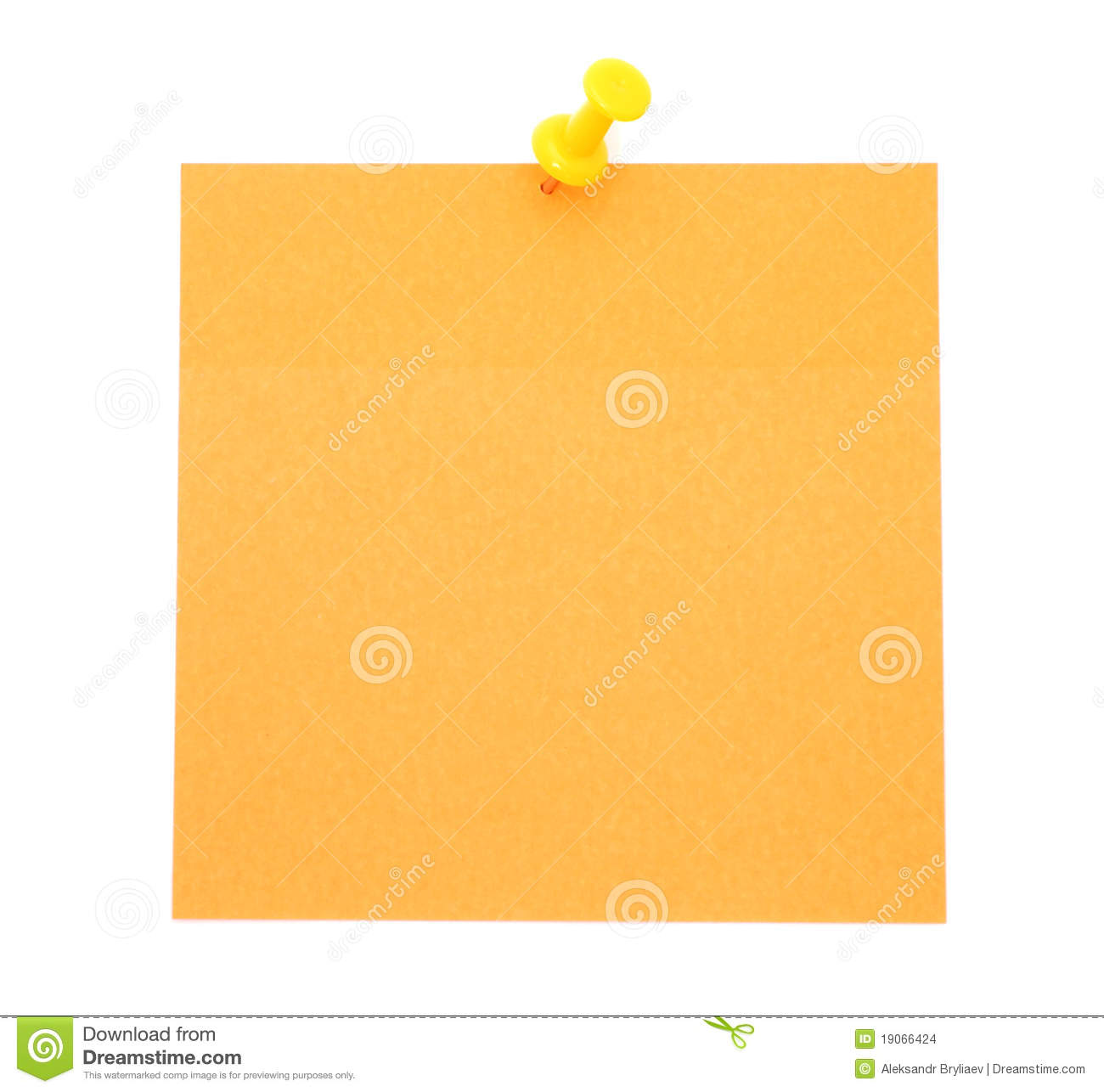 Blank Orange Post-it Note Stock Images - Image: 19066424