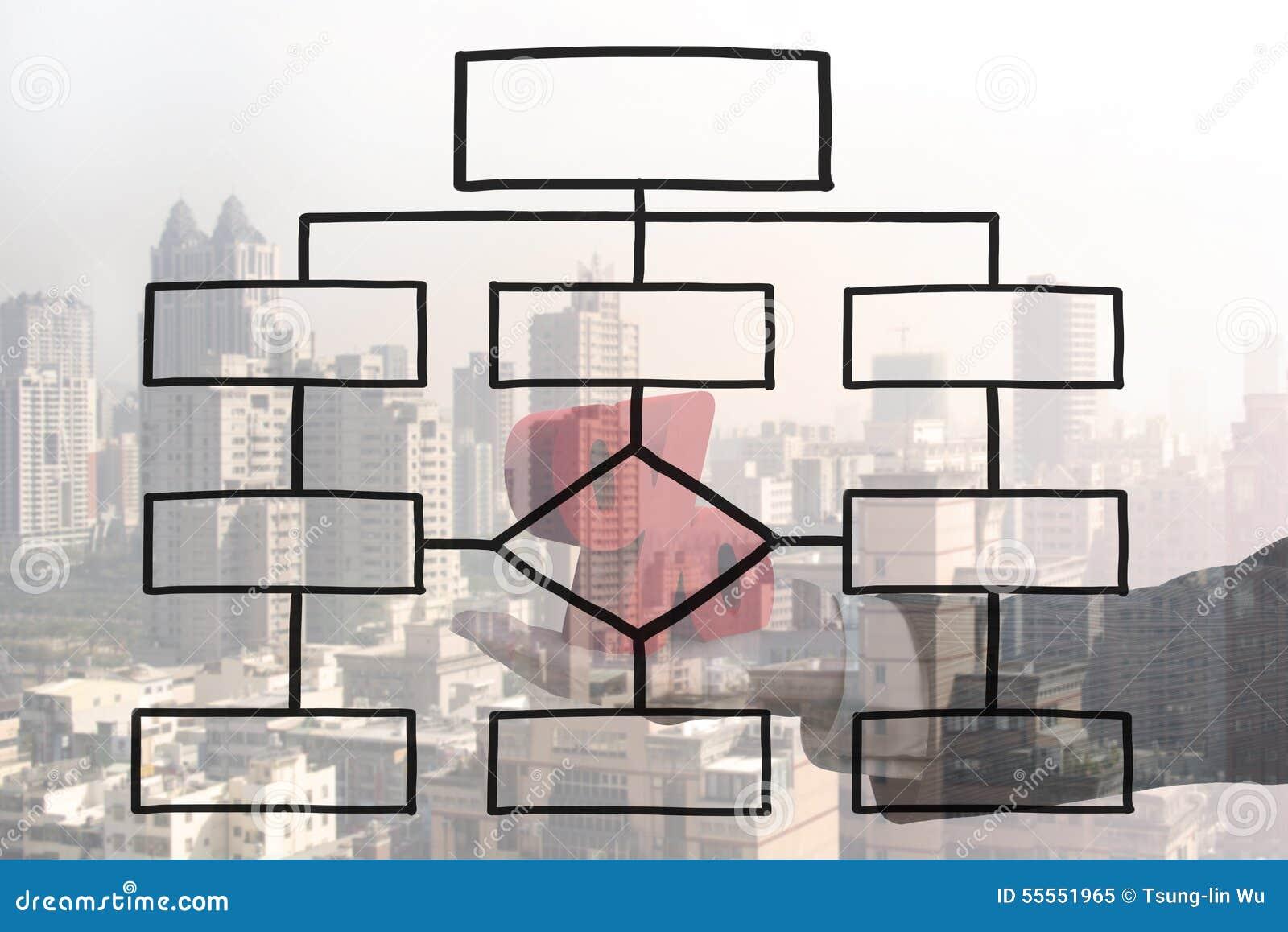 blank organization chart stock illustration illustration of