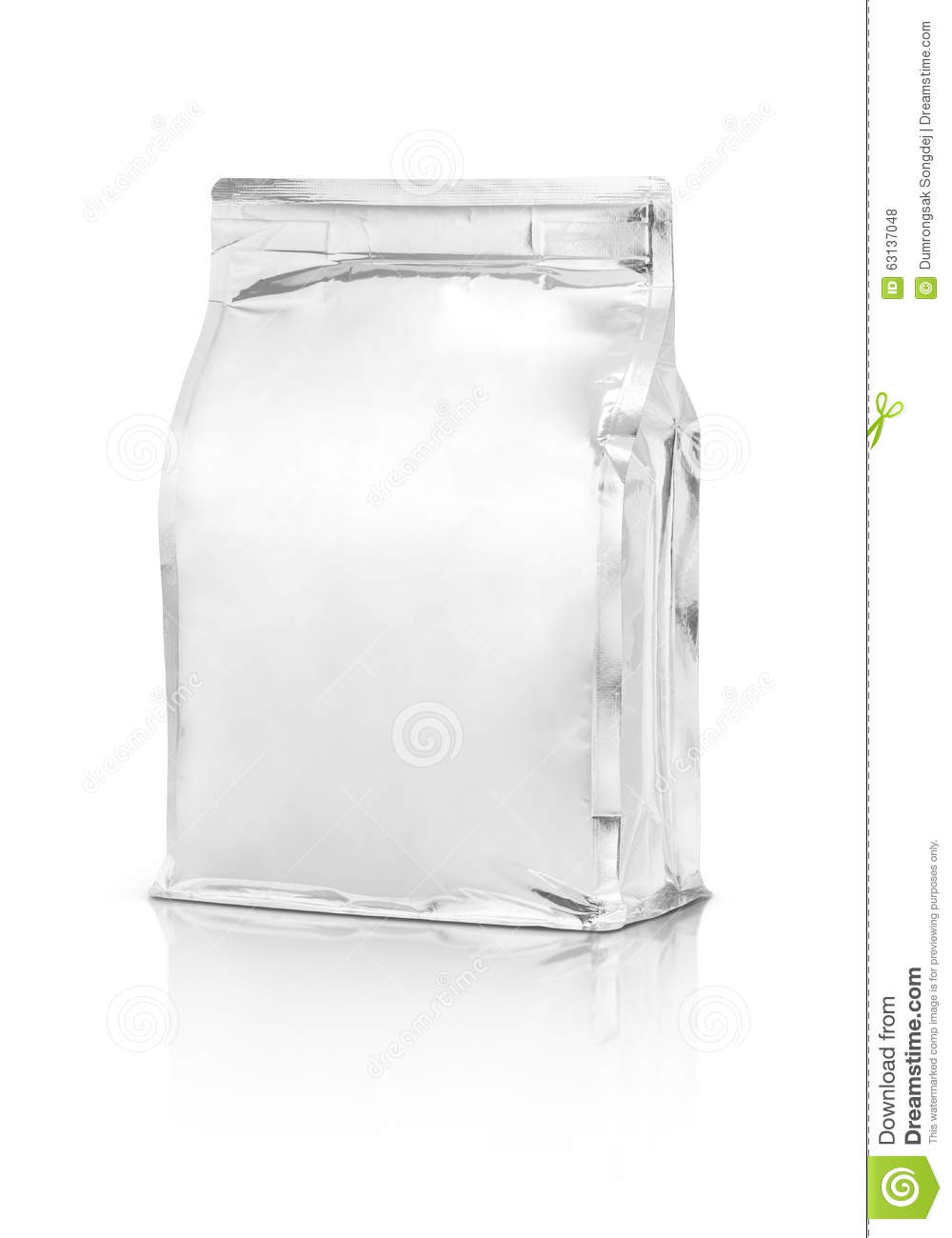 Download Blank Packaging Aluminium Foil Pouch Isolated On White Stock Photo - Image of ready, blank: 63137048