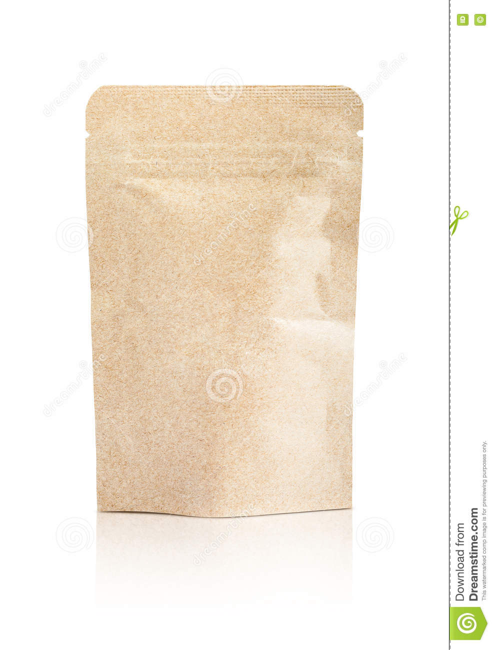 Download Blank Packaging Recycled Kraft Paper Pouch Isolated On White Stock Image - Image of pouch, background: 71084873