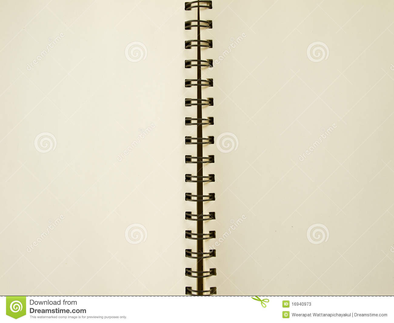Blank Page Spiral Sketching Book Stock Photos Image