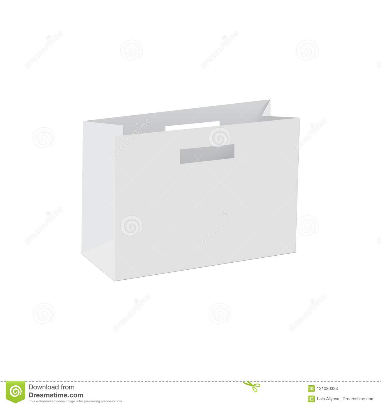 blank of paper bag template vector stock vector illustration of