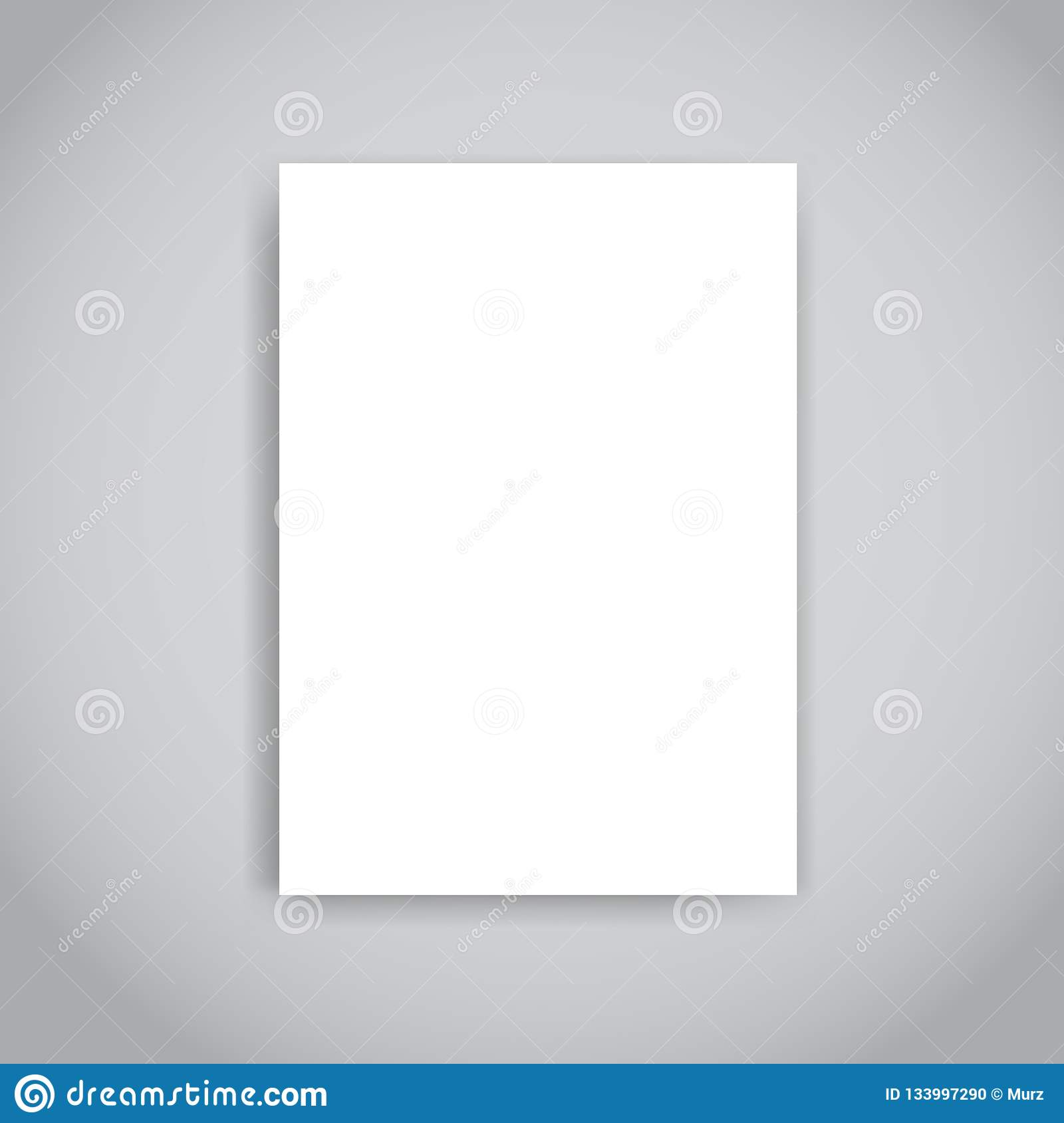 Blank Paper Brochure Or Flyer Design Template With Soft
