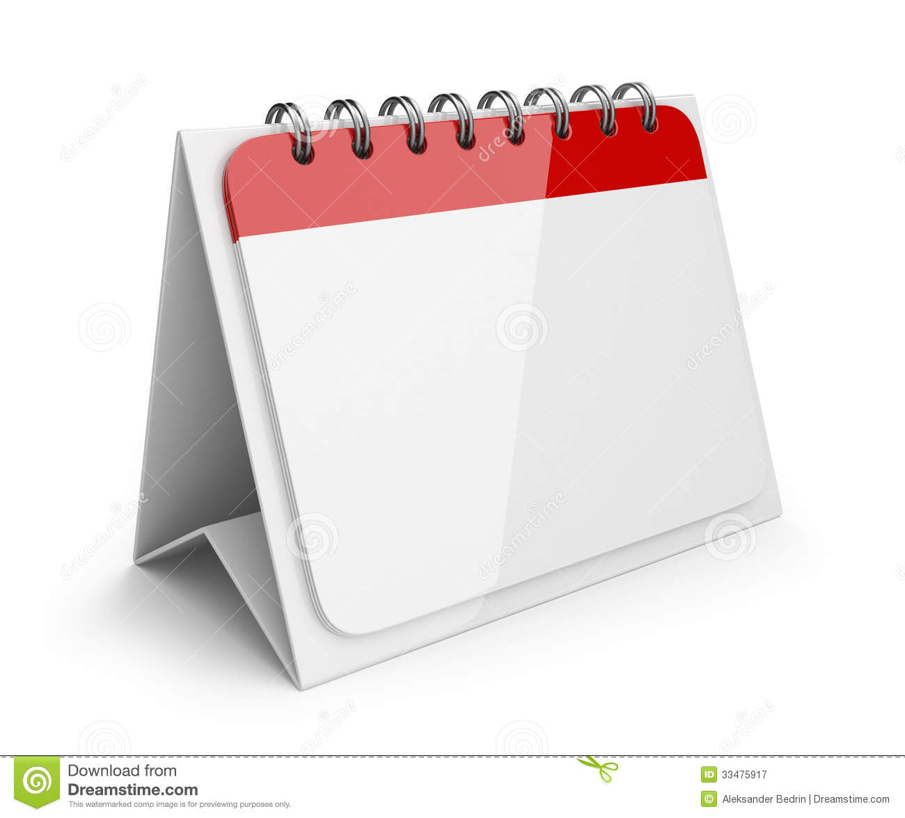 Blank Calendar Day Icon : Blank paper calendar d icon stock illustration