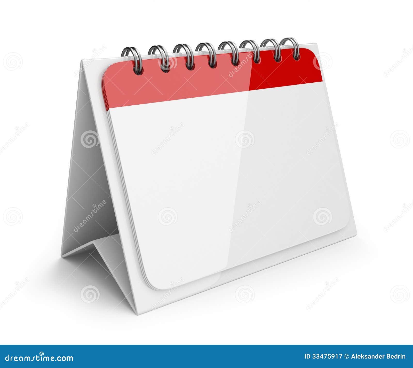 Blank Calendar Icon : Blank paper calendar d icon stock illustration