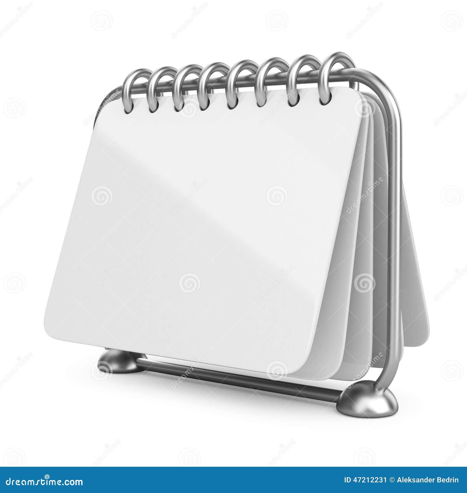 Blank Calendar Icon : Empty template desk calendar d royalty free