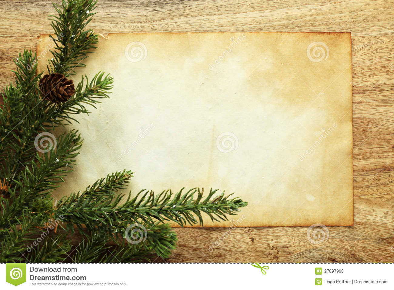 Blank Paper And Christmas Decorations Stock Photo - Image of blank ...