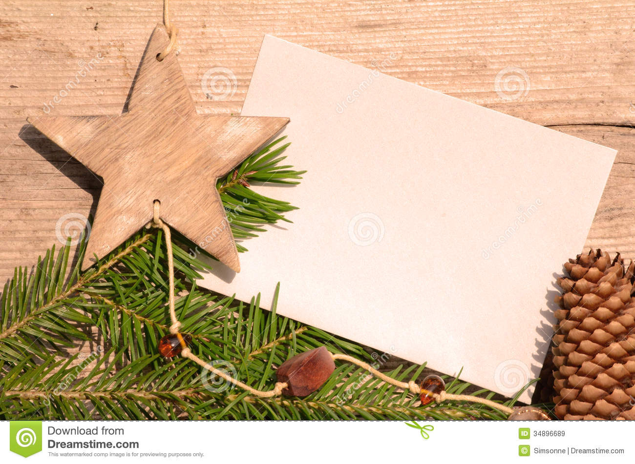 Blank Paper Christmas Royalty Free Stock Images - Image: 34896689