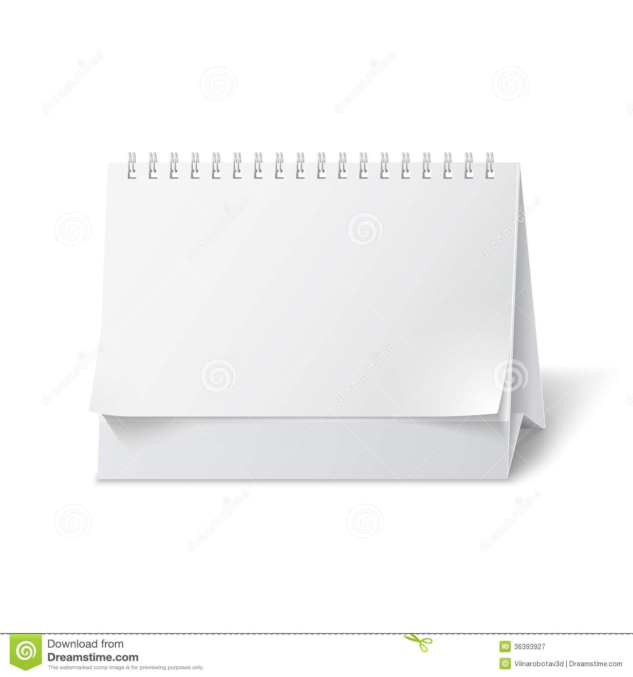 Table Paper Holder Blank Paper Desk Calendar Stock Illustration Illustration
