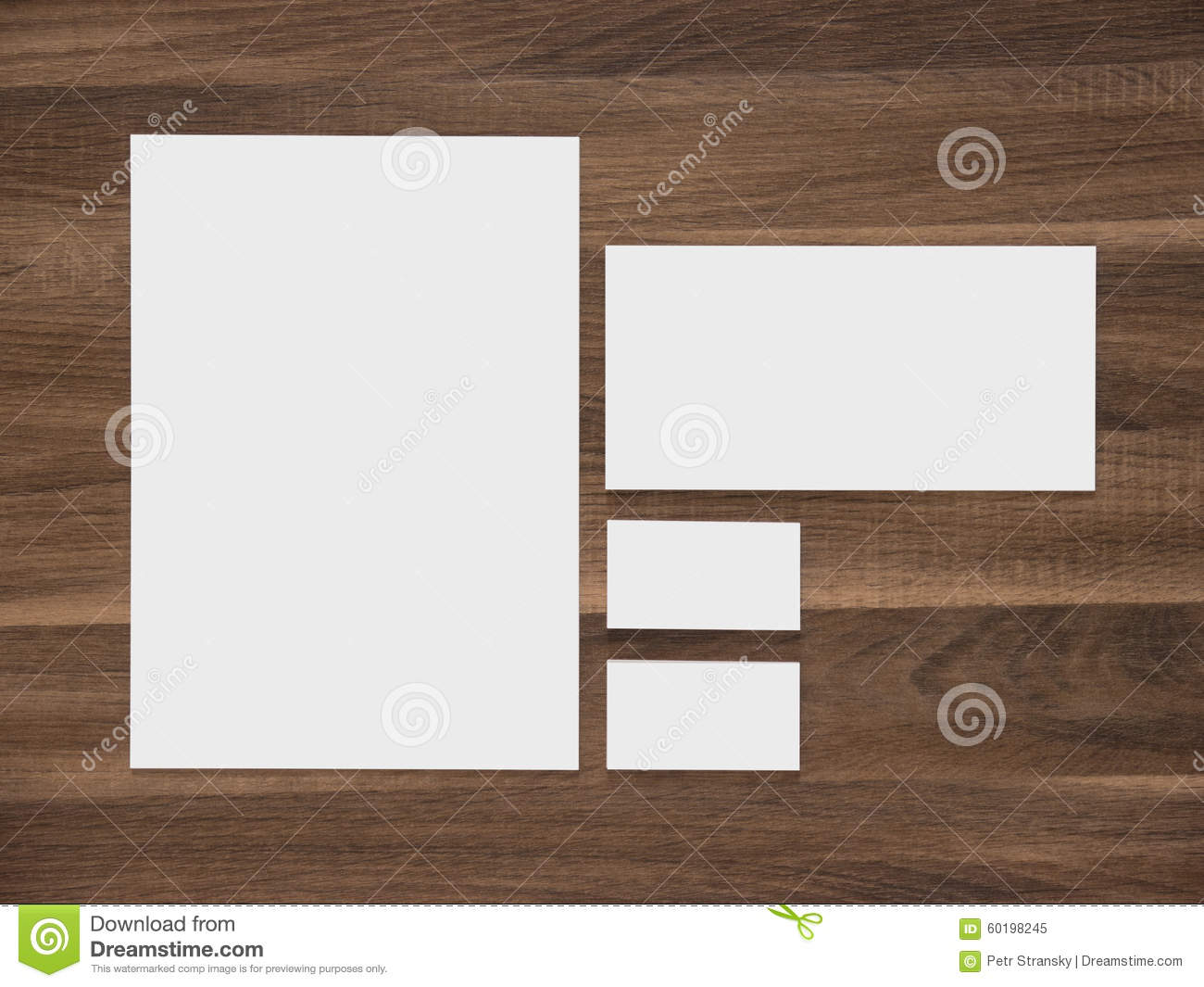 Blank paper envelope and business cards on wooden stock image blank paper envelope and business cards on wooden reheart Gallery
