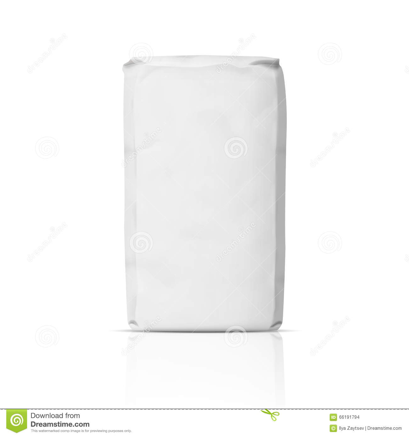 Blank paper flour bag. stock vector. Image of container ...White Paper Bag Vector
