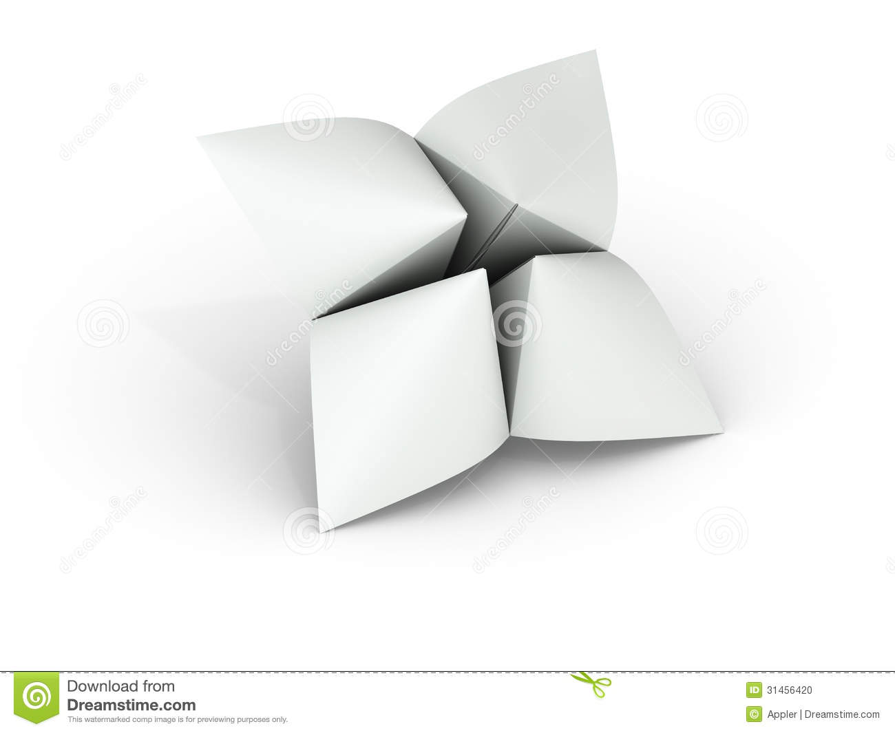 Blank Paper Fortune Teller Stock Photo - Image: 31456420 - photo#45