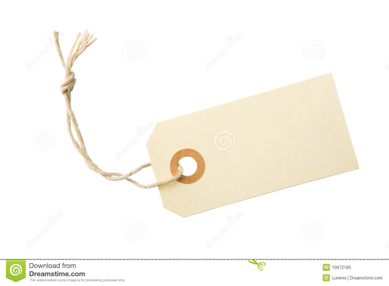 Blank Tag Label Stock Photos - Image: 10972023