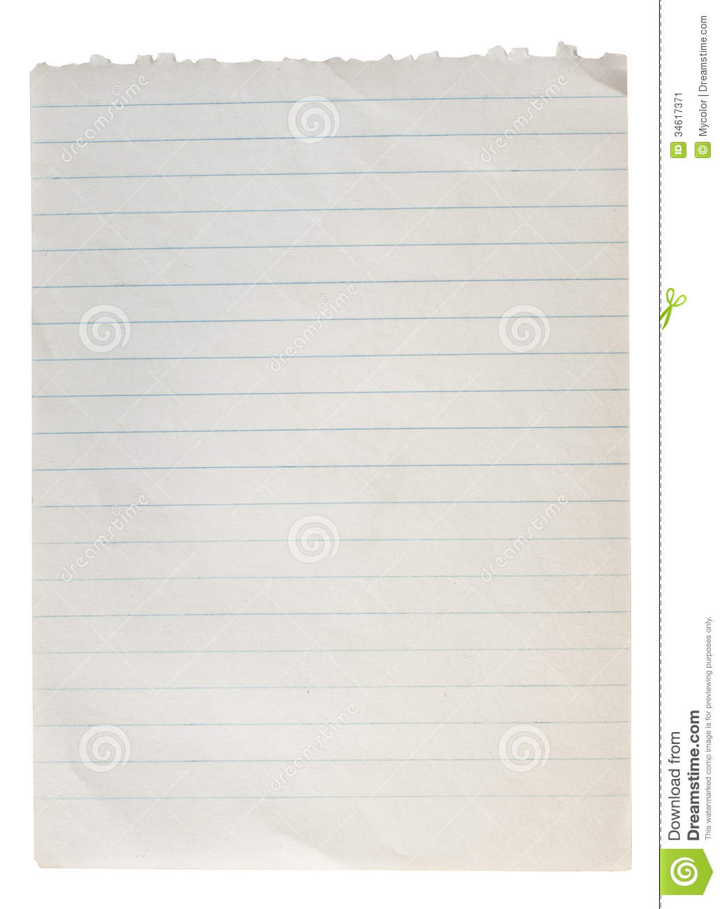 blank paper with line stock image image of clean school 34617371