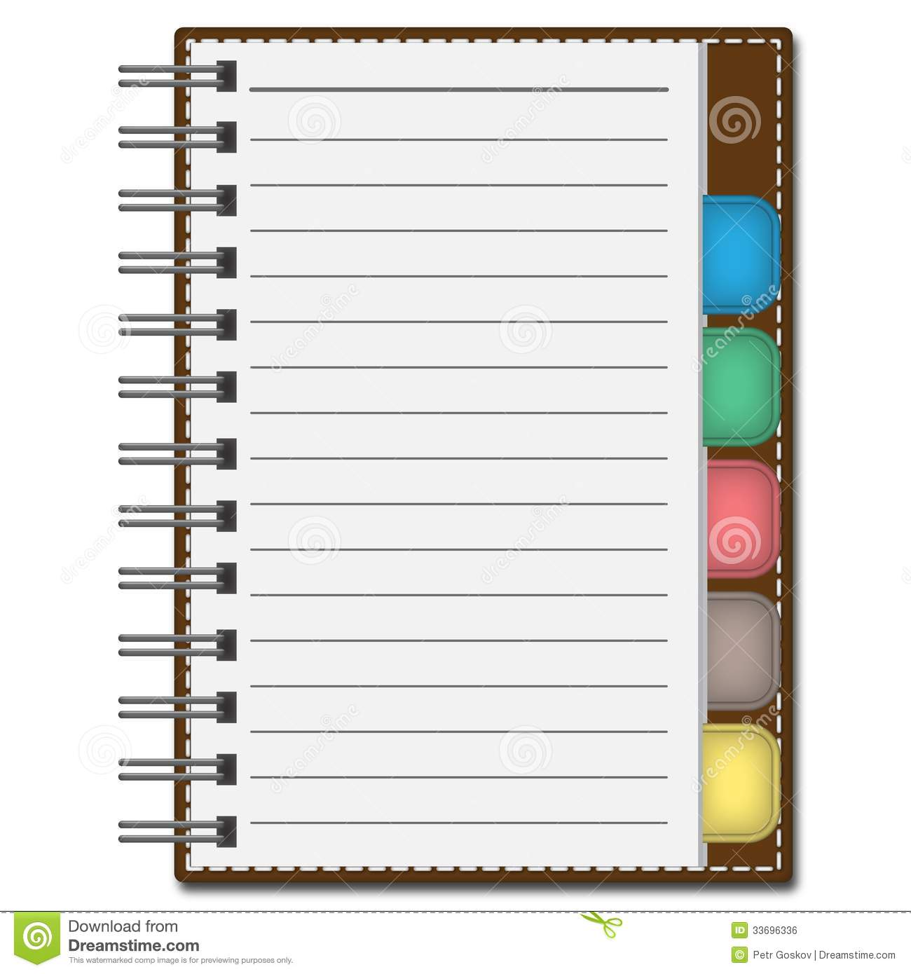 Blank Paper With Notebook Vector Royalty Free Image Image – Notebook Paper Download