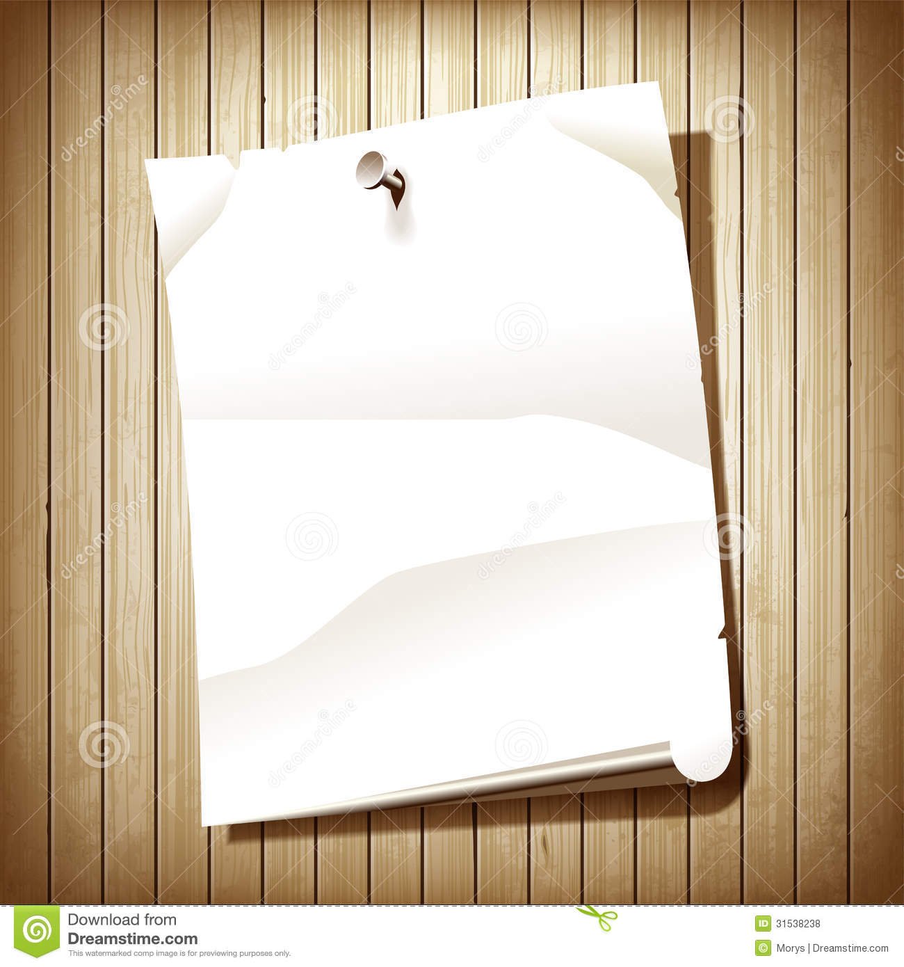 Blank Paper Page On Wood Background  Blank Paper Background