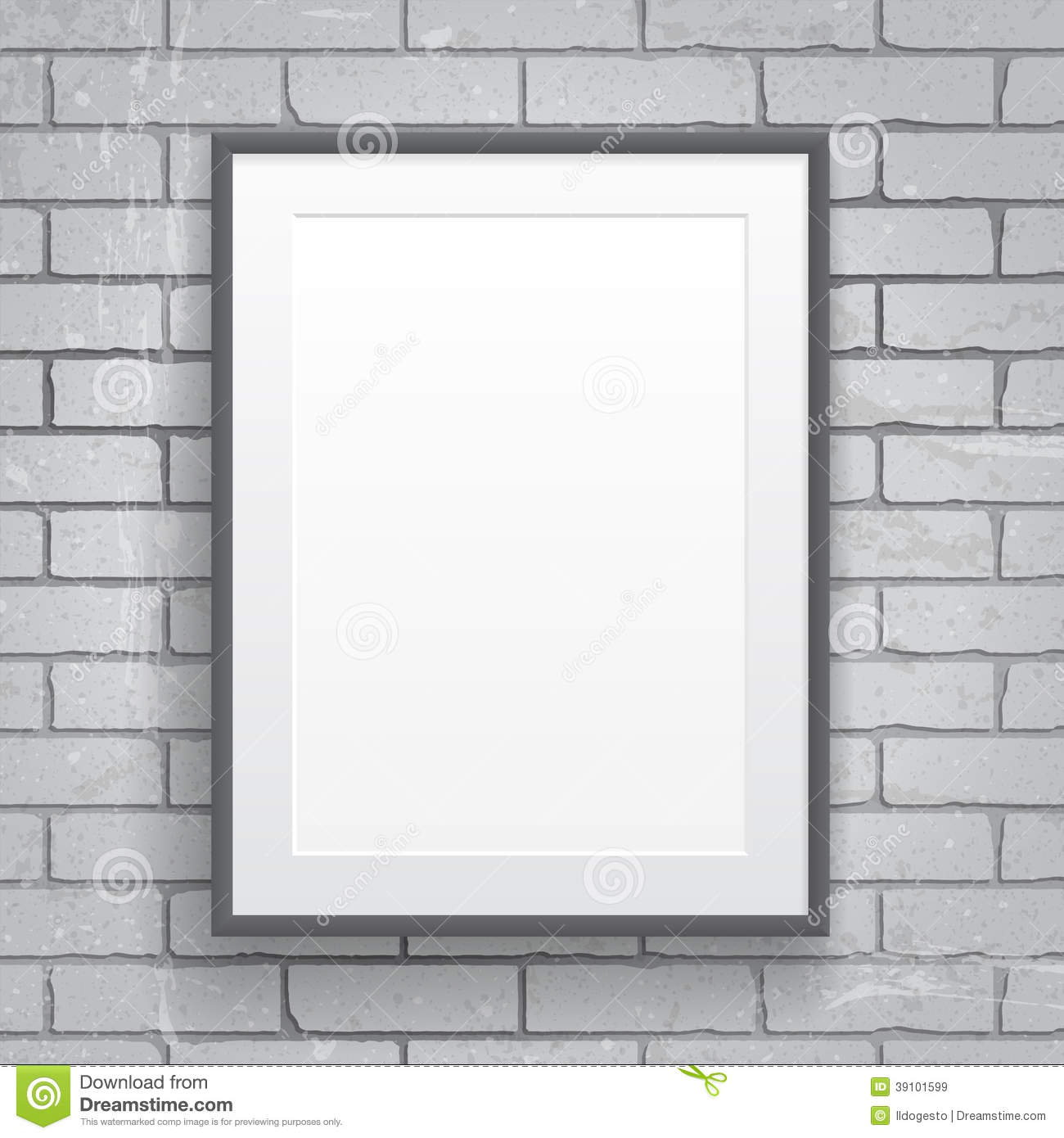 blank paper poster with frame stock vector illustration of design