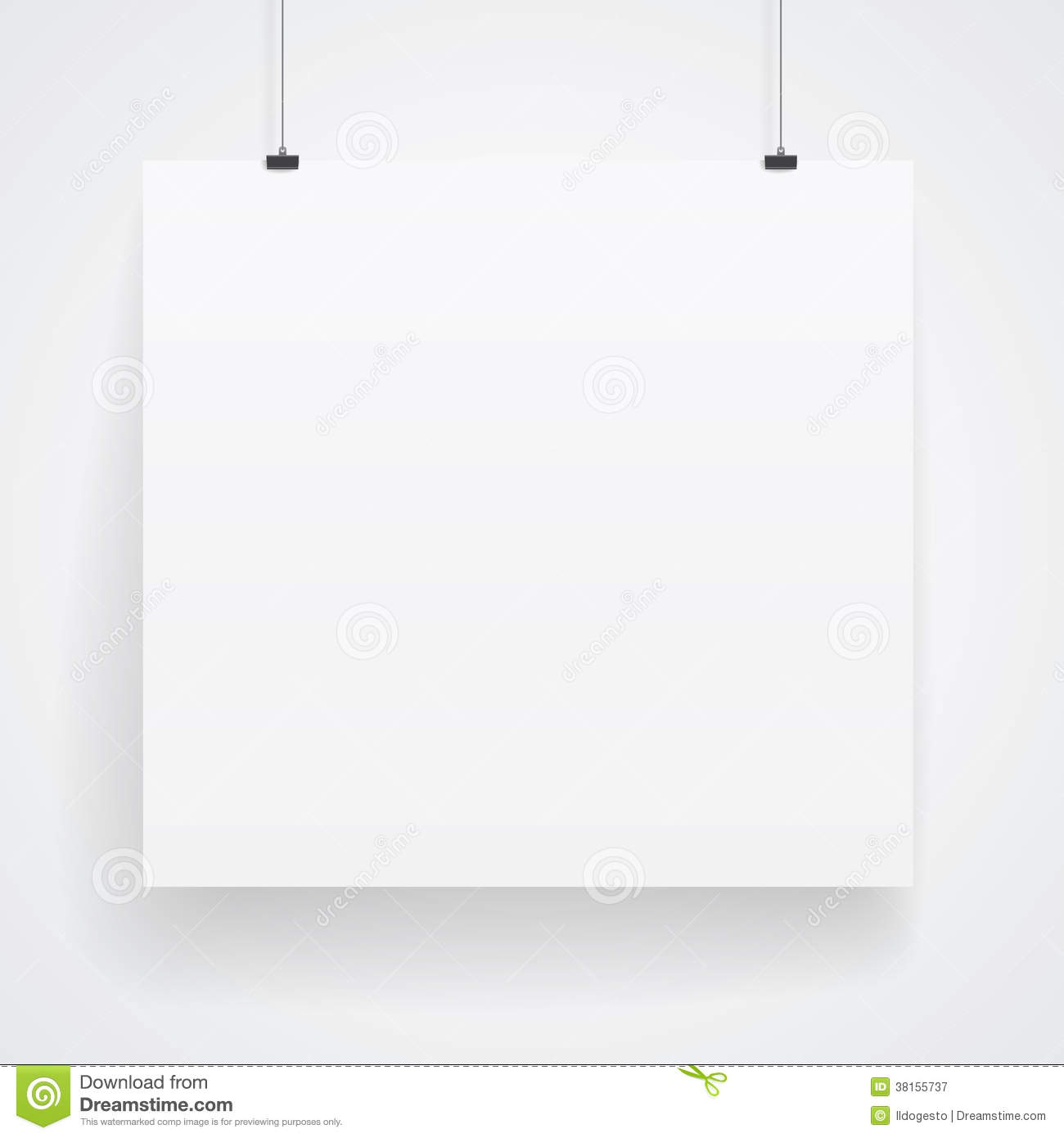 Blank Paper Poster Royalty Free Stock Photography Image
