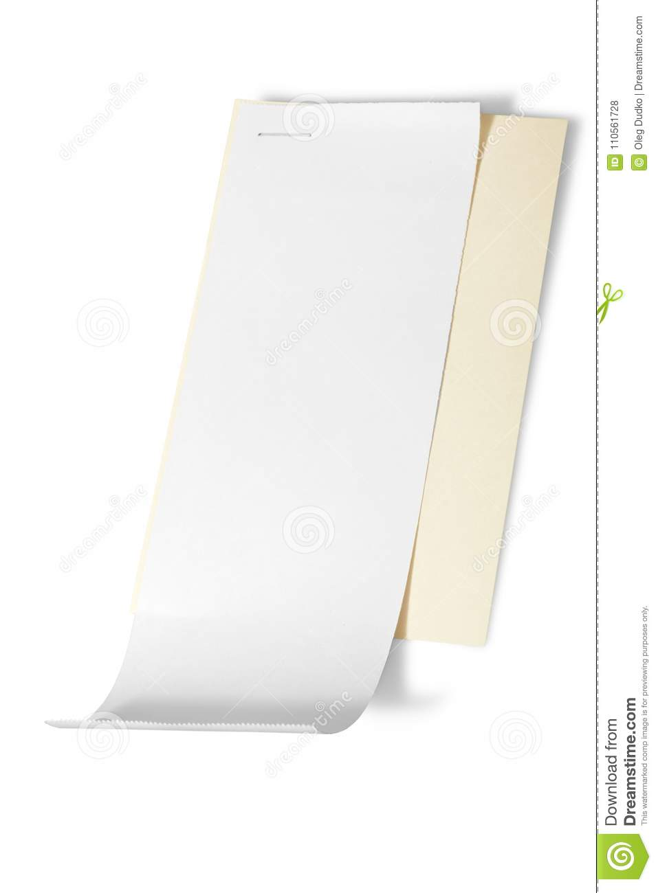 blank paper receipt stock photo image of store isolated 110561728