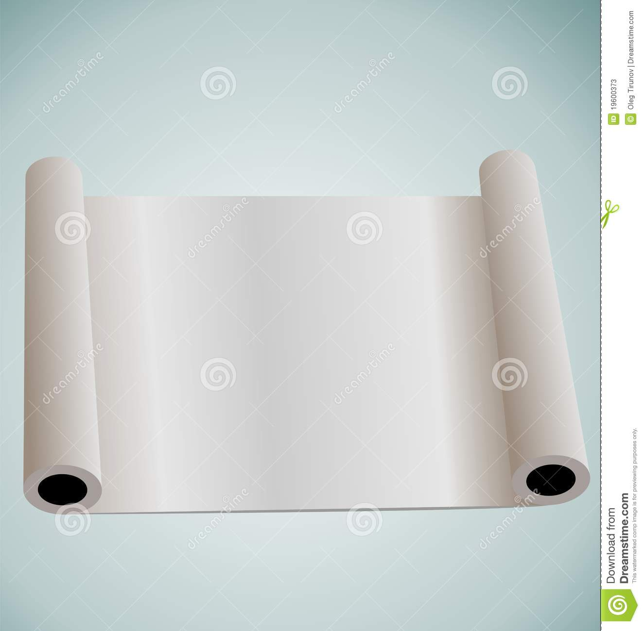 Blank paper roll for design