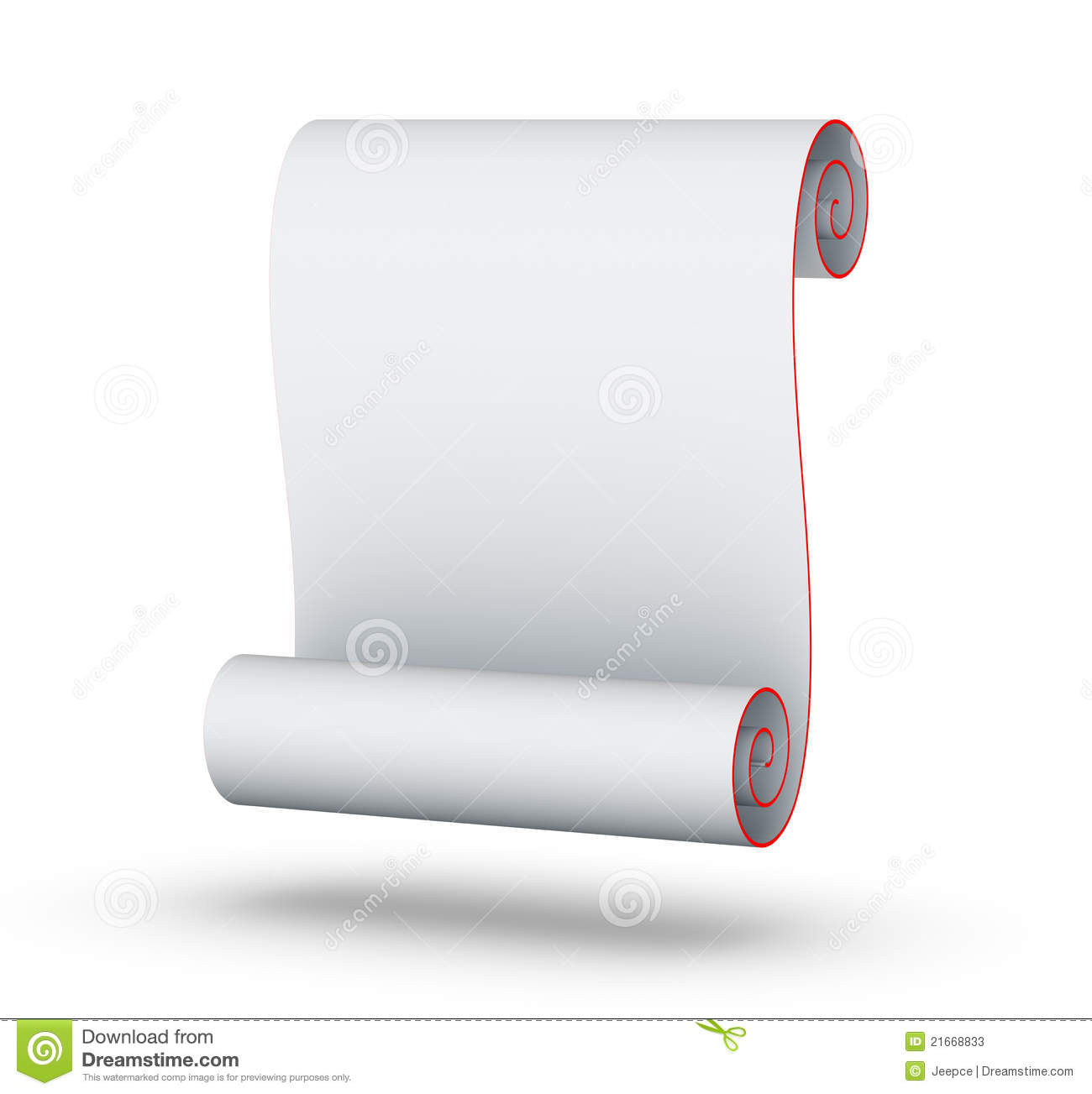 Blank Paper Scroll Stock Photos - Image: 21668833