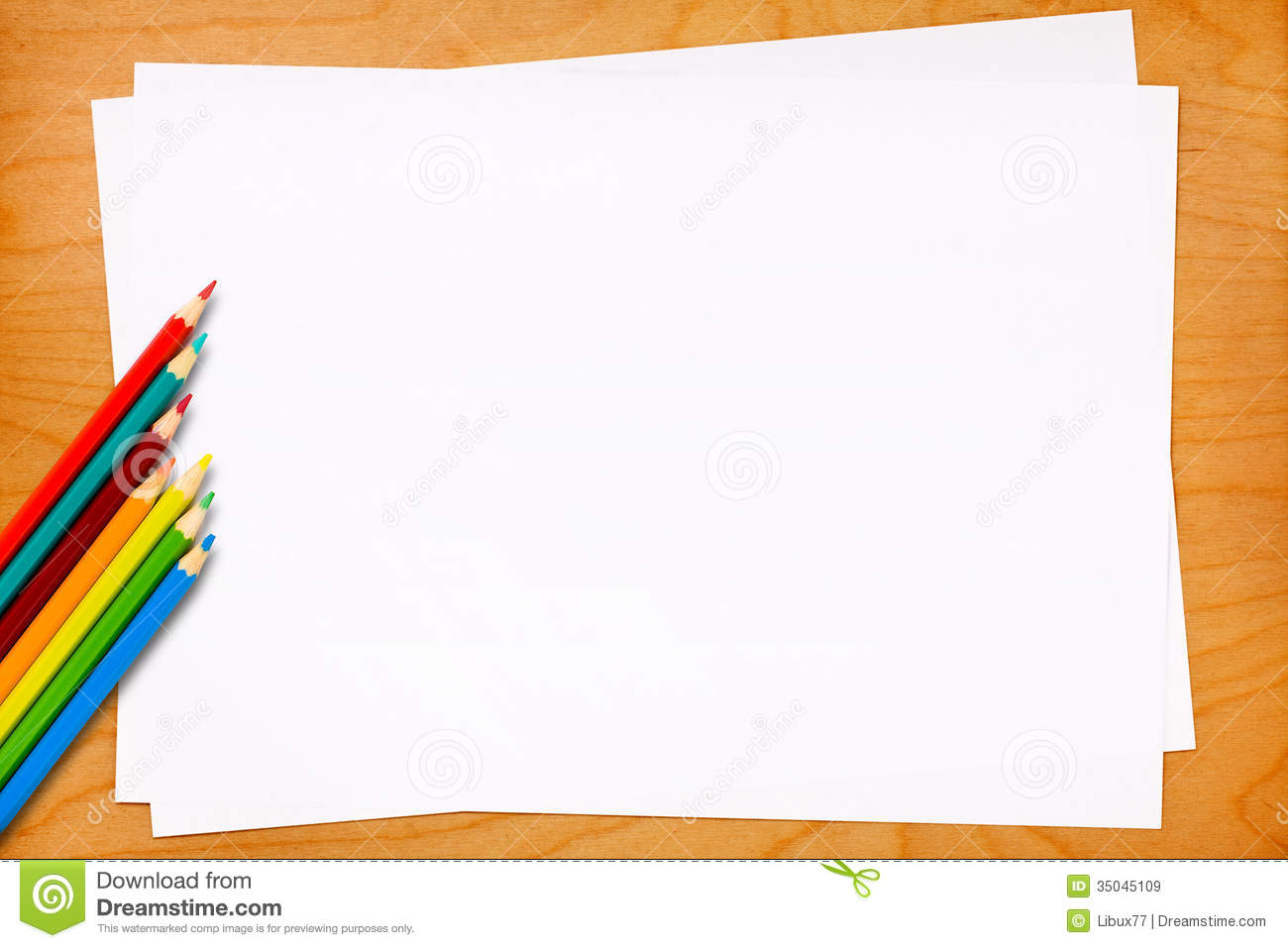 High Quality Blank Paper Sheets With Colored Pencils Within Blank Paper Background