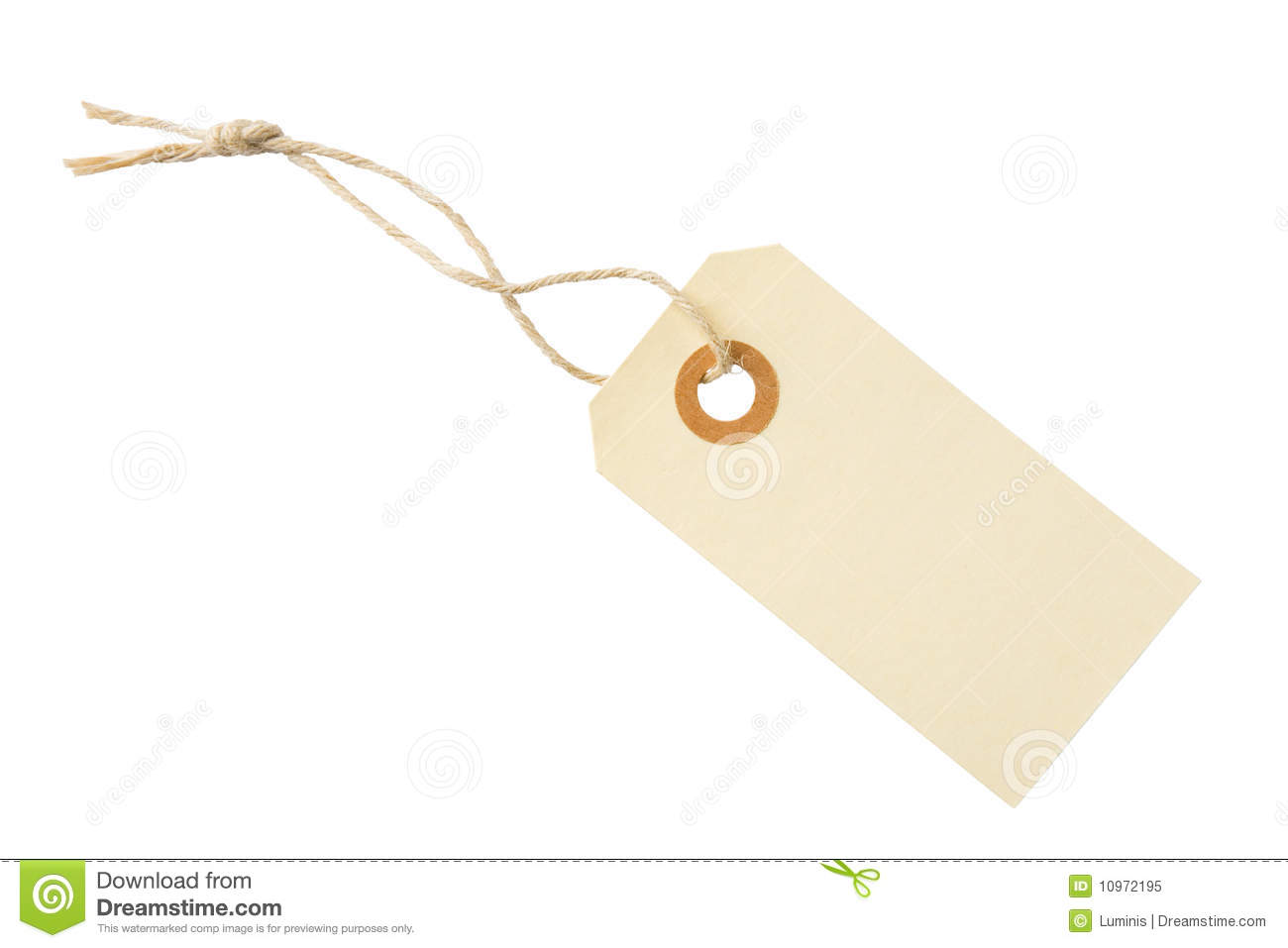 Blank Paper Tag Label Royalty Free Stock Photo - Image: 10972195