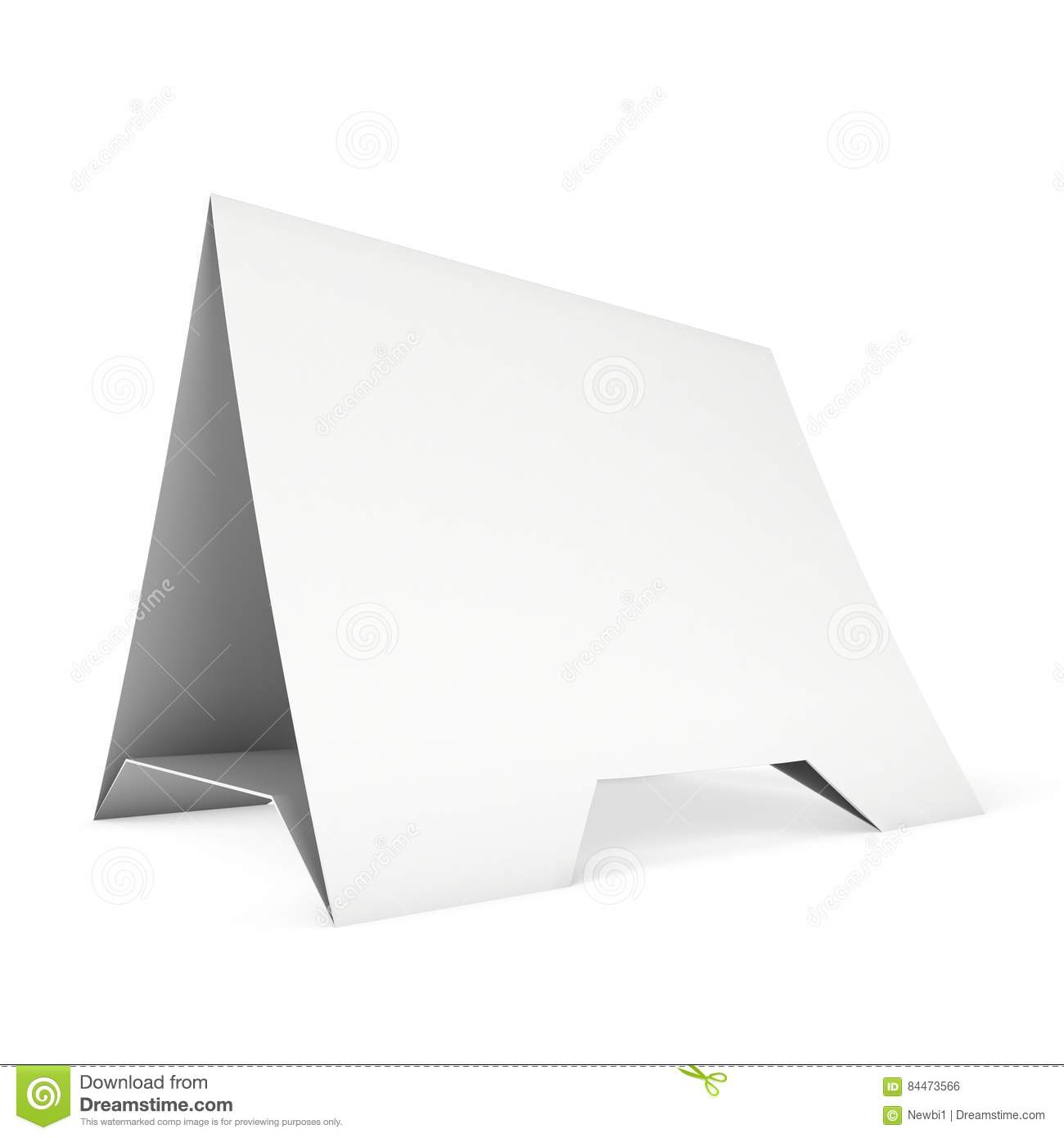 Blank paper tent card. 3d render. Business date.  sc 1 st  Dreamstime.com & Blank Paper Tent Card. 3d Render. Stock Illustration ...