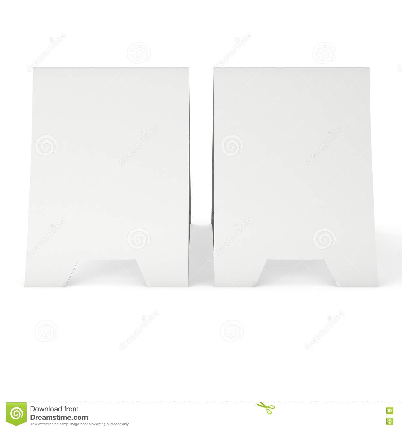 picture about Printable Tent Cards identified as Blank Paper Tent Card. 3d Render. Inventory Case in point