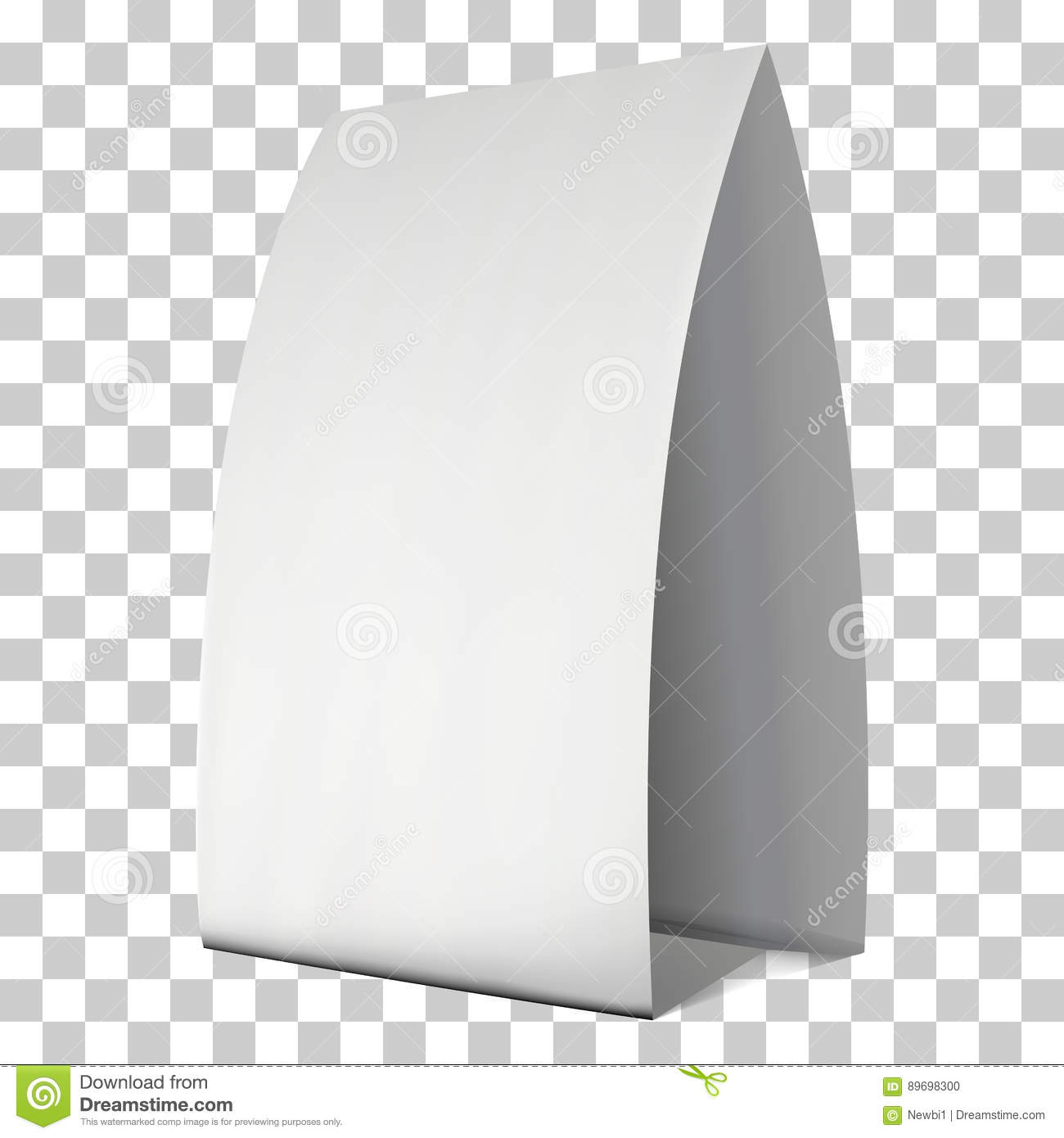 picture relating to Printable Tent Card named Blank Paper Tent Card. Vector Inventory Vector - Case in point of