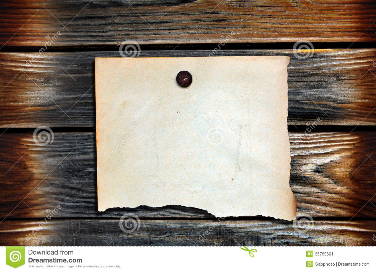 Blank Paper On Wooden Backgrounds Stock Image Image