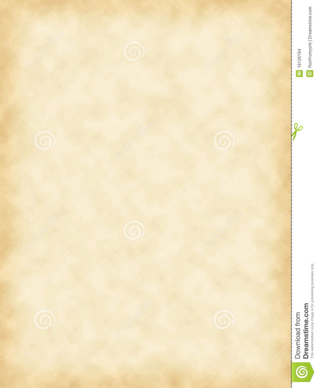 Blank Parchment Paper Stock Illustration Image Of Sepia